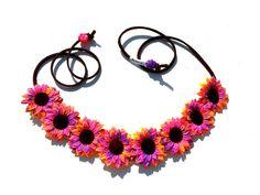 Flowerhalo, flower crown, flower headband, flower child, tie dye, festival, fashion, hair accessories, EDC, Ezoo, Coachella