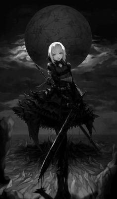 Répertoire Image Fantasy - Page 47 Art Anime, Anime Art Girl, Manga Girl, Anime Girls, Manga Anime, Dark Anime Girl, Gothic Anime Girl, Dark Fantasy Art, Dark Art