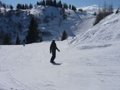 Snowboarding in Flachau, Austria.