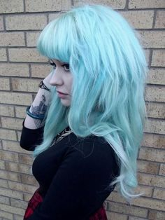 Lovely cotton candy blue hair