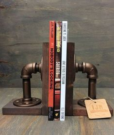 Industrial Pipe Bookends
