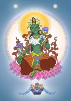 Tara Goddess, Green Tara, Hindu Art, Buddhist Art, Buddhism, Krishna, Princess Peach, Tattoo, Fictional Characters