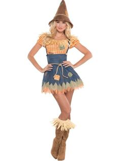 Adult Sultry Scarecrow Costume - Party City For work- Wizard Of Oz Theme!