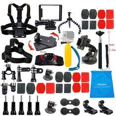 Lifelimit Accessories Starter Kit for Gopro Hero 5/Session/4/3/2/HD Original Bla #lifelimit