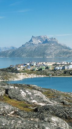 Greenland Nuuk City iPhone 5 wallpapers, backgrounds, 640 x 1136