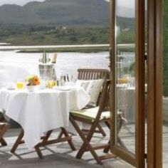 Win a romantic weekend for two people at the lovely Sneem Hotel in Co Kerry. Prize includes two nights bed and breakfast, dinner on one evening, and a bottle of Prosecco on arrival! Fabulous room with balcony Win A Holiday, Unique Hotels, Outdoor Furniture Sets, Outdoor Decor, Folding Chair, Hotel Reviews, Bed And Breakfast, Great Places, Ireland