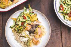 Teriyaki zalm met mango, bruine rijst en pickles van Jamie Oliver - Culy.nl