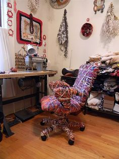fabric wrapped work chair1 | Flickr - Photo Sharing! Danny Mansmith