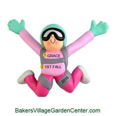 Personalized Christmas Ornaments Skydiver Female. SHOP now... $12.99