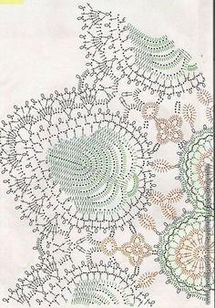 Crochetpedia: Вязание крючком салфетка