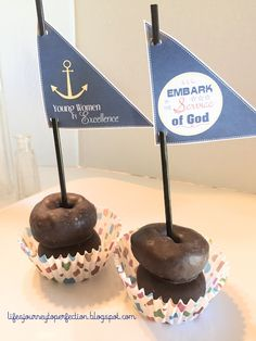 Young Women Sail Cupcake Toppers, Great for Young Women in Excellence!