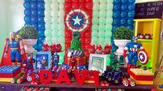 Festa dos heróis Decoração dos heróis #festadosherois #heróis #beth_decora Whattsapp 98325-2545