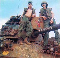 """M48A3 """"Misanthrope"""" of the 3rd Platoon, Bravo Company, 3rd Tank Battalion in Camp Carroll, 1968."""