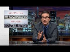 "Last Week Tonight with John Oliver: Migrants and Refugees (via HBO) (video) min) September John Oliver's commentary about the refugee crisis and how those seeking ""asylum in Europe face hostility, racism, and red tape. John Oliver, Money In Politics, Last Week Tonight, Soap Opera Stars, Refugee Crisis, The Daily Show, Comedy Tv, Days Of Our Lives, Europe"