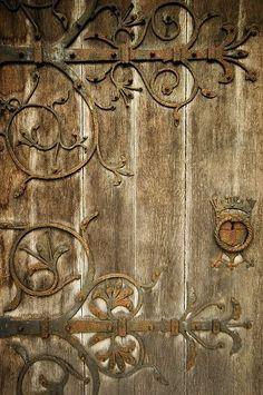 Montana Rose - Painter - Traditional Style #Decor #Details garden gates, garden doors, ana rosa, wrought iron, iron doors, wooden doors, wood doors, decorative doors, vintage doors