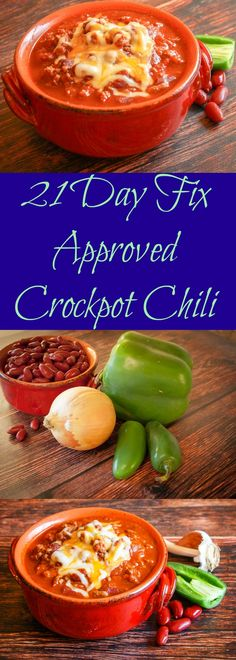 Easy 21 Day Fix Approved Crockpot Chili