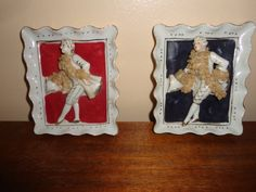 Vintage Set Colonial Men 2D Ceramic Wall by tennesseehills on Etsy, $22.00