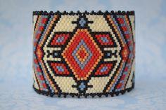 Peyote Bracelet, Peyote Cuff, Beaded Bracelet, Beaded Cuff, Seed Bead Bracelet, Bracelet, Handmade