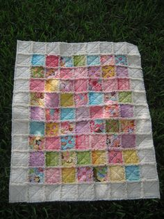 Not my quilt but the border is a great idea.  Soft & Cuddly Cotton Baby Rag Quilt. $139.00, via Etsy.