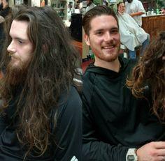 ¡Menudo cambio! / 23 increíbles hombres antes y después de visitar al #peluquero. #lavozdelmuro  #fashion #style #haircut #cabello #peluqueria #men #barba #beard #transformation #transformacion #cortedepelo #hombre