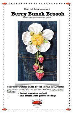 Berry Bunch Brooch Pattern cover