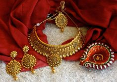 Gold Tone Stunning #Necklace with Long #Earrings and Maang Teeka by #BanyanJewelry at #ShopBollyWear #FashionJewellery  #Antique #jewelry @Jewelry8 @fashionbloggers @officialfashion @Fashion