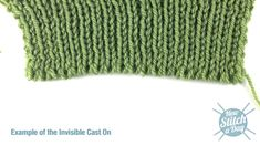 How to knit the Invisible Cast On