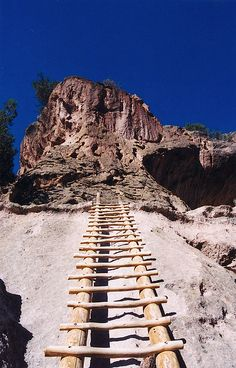 Ladder to the Kiva-Bandelier National Monument in New Mexico
