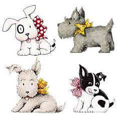 Mary Engelbreit Backgrounds | Wallies Wallpaper Cutouts Mary Engelbreit - Dogs Discounts Apply !