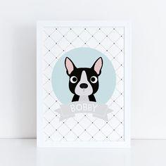 Quadro Boston Terrier Personalizado