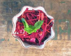 carrot & beet salad with harissa, currants & mint  | everybody likes sandwiches