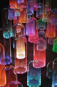 Bell jars with led