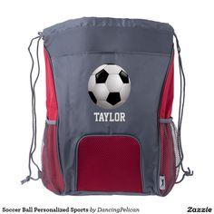 847fde27242e Soccer Ball Personalized Sports Drawstring Backpack Custom Drawstring Bags