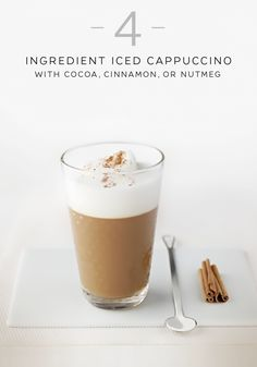 Revive an old classic with this easy redesigned Iced Cappuccino recipe. Cocoa, cinnamon and nutmeg will awaken the fire beneath the ice for a flavor that will shock your senses. Morning or night, this delightful taste sensation can be enjoyed at any time of the day.
