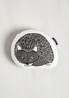 Squad Goals Pillow in Noir Hedgehog - From The Home Decor Discovery Community At www.DecoandBloom.com