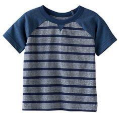 Baby Boy Jumping Beans® Striped Raglan Tee, Dark Blue