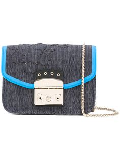 FURLA . #furla #bags #shoulder bags #denim #crossbody #cotton #