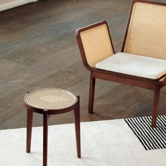 Last day of our Semi-Annual Sale! Up to 20% off so much good stuff. Ends at midnight! Included in the sale: the Le Roi is made from solid oak with inlaid French rattan mesh. Le Roi is the French word for King, and the series is a minimalistic interpretation of rattan furniture from the French colonial time, merged with well known Scandinavian furniture archetypes, such as the three-leg circle table and the rectangular bench. Brand: Norr11 Designer: Kristian Sofus Hansen + Tommy Hyldahl Colonial Furniture, Modern Furniture, Leg Circles, Circle Table, French Colonial, Neutral Color Scheme, Scandinavian Furniture, Rattan Furniture, Archetypes