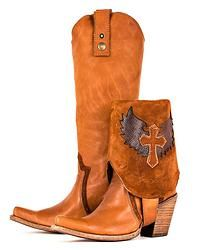 Corral Brown Wing Cross Converible Boots C2213