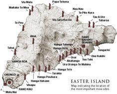 Mappa di Rapa Nui