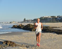 Running out the door for a cardio session before breakfast may actually be the key to moving those excess kilos. Does fasted cardio really work though? Cardio, Cover Up, Beach, Fitness, Gymnastics, Cardio Workouts, Rogue Fitness, Excercise