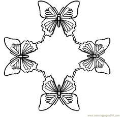 Pillangók és boldog színező oldal - ingyen nyomtatható színező oldalak