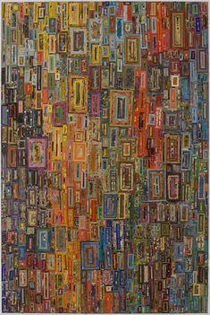 "A large commissioned piece by Lance Letscher is part of The Austonian art collection. The piece, entitled ""Showboat"". Reminiscent of Fritz Hundertwasser. Kunstjournal Inspiration, Quilt Modernen, Art Brut, Art Plastique, Rug Hooking, Fabric Art, Medium Art, Love Art, Collage Art"
