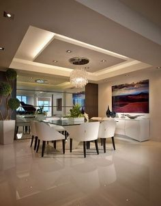 65 New False Ceilings with Cove Lighting Design for Living Room – - Ceiling design Gypsum Ceiling Design, House Ceiling Design, Ceiling Design Living Room, Dining Room Design, Kitchen Ceiling Design, Modern Ceiling Design, Living Room Floor Plans, Living Room Flooring, Decoration Faux Plafond