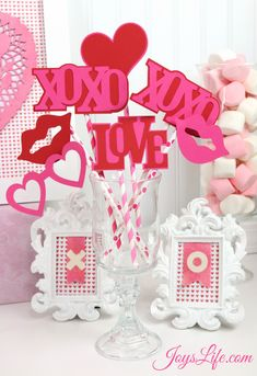 Valentine's Day Party Ideas by Joys Life: Photo Props cutting files by Lori Whitlock