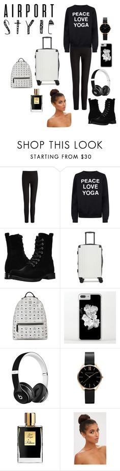 """Airport Style contest"" by gabby-galindo-97 ❤ liked on Polyvore featuring Joseph, Private Party, Frye, CalPak, MCM, Beats by Dr. Dre, Kilian and airportstyle"