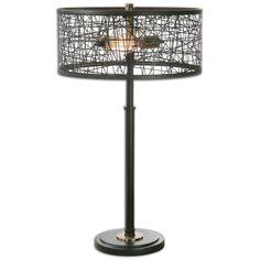Alita Black Drum Shade Lamp   Rug & Home