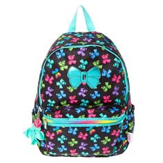 Be the most stylish in your class with this JoJo Siwa backpack! This black backpack is printed with bright colored bows and has a lot of space to carry all the school supplies you need!