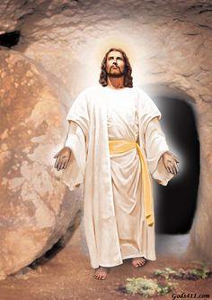 Jesus coming out of tomb. Jesus Has Risen, Jesus Our Savior, Lord And Savior, Jesus Loves Me, God Jesus, Light Of The World, Light Of Life, Sagrado Corazon Tattoo, Jesus Christ Painting