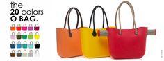 O'Bag 20 colores de bolsos, ¿te los imaginas? ¡los colores son increibles!